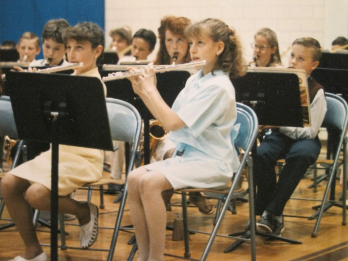 Me (in light blue) at my first band concert in 5th grade.
